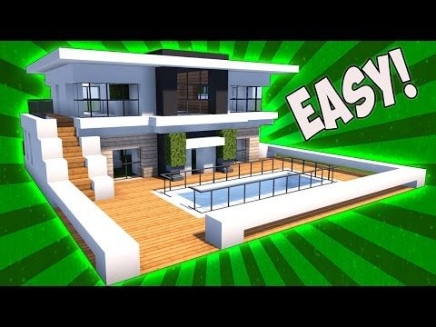 Minecraft how to build  small modern house tutorial mansion servers view also rh ar pinterest