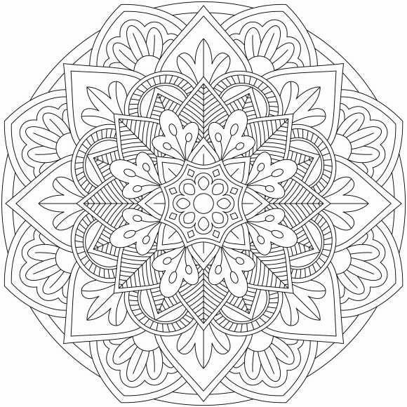 Mandala Monday Free Download To Colour In Coloring Mandala