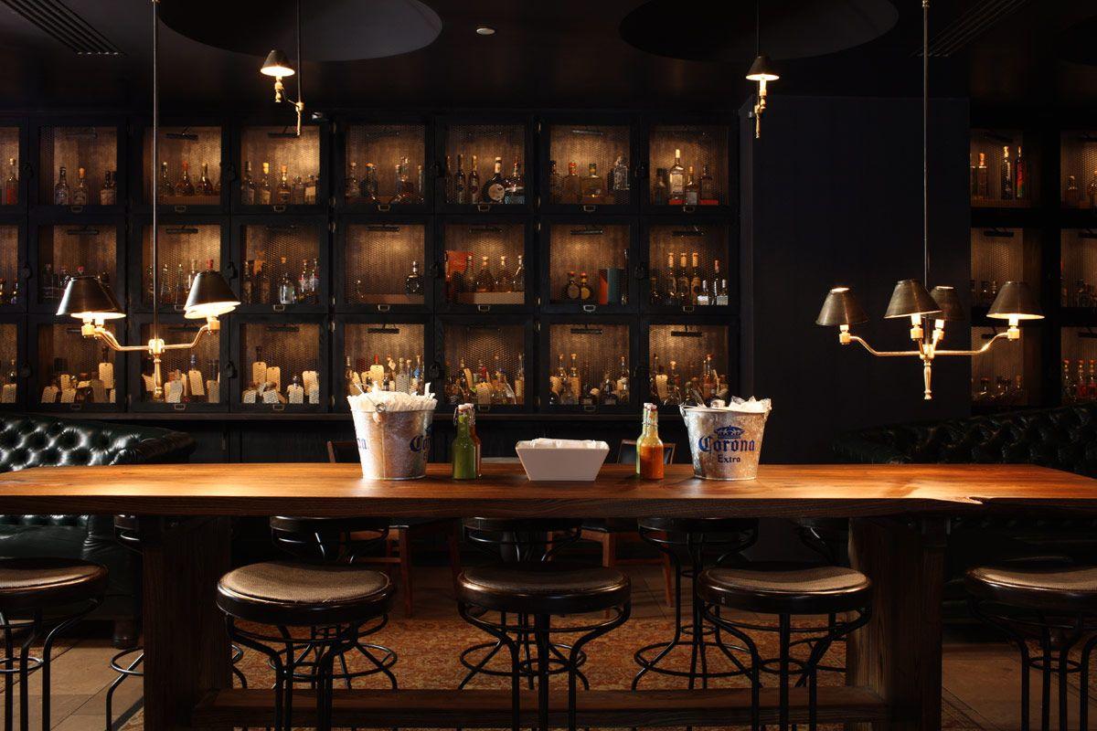 La Biblioteca NYC Tequila lockers Bar, Tequila, Bar design