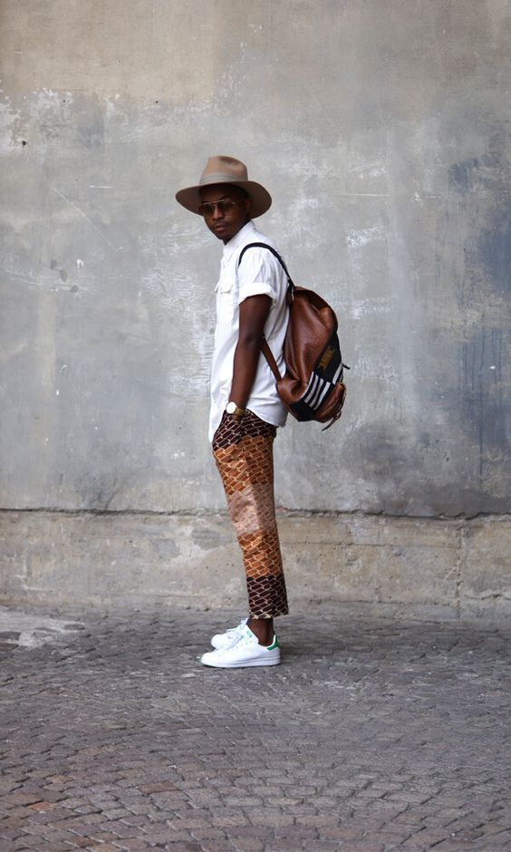 Street Fashion Style For Modern Men African Street Wear, African street style,Urban Africa, African Accessories, traditional attire, Africa head wear, africa head wrap, Lace styles, Aso ebi styles, Ankara Jacket, Ankara BlaZers, Ankara office wears, ankara cocktail dresses,short dresses,Afro Jumpsuit,Ankara, Lace Asoebi, Jumpsuit,African fashion 2018, African fashion, Ankara, kitenge, African women dresses, African prints, African men's fashion, Nigerian style, Ghanaian fashion, ntoma, kente sty #africanfashion
