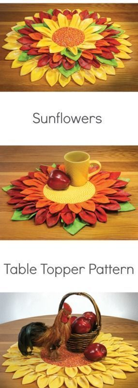 Photo of Create pot holders, mug rugs or several sizes of table mats from two circles and…,  #Circle…