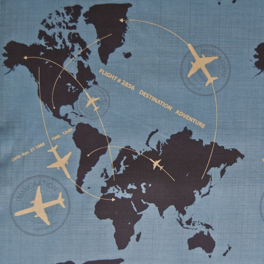 Rb43 airplane air travel continents world map globe quilting cotton rb43 airplane air travel continents world map globe quilting cotton quilt fabric gumiabroncs Images