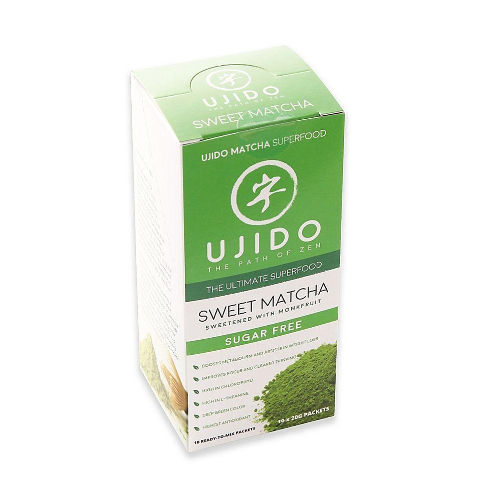 Ujido 10-Count Sweet Matcha Green Tea Powder Packets