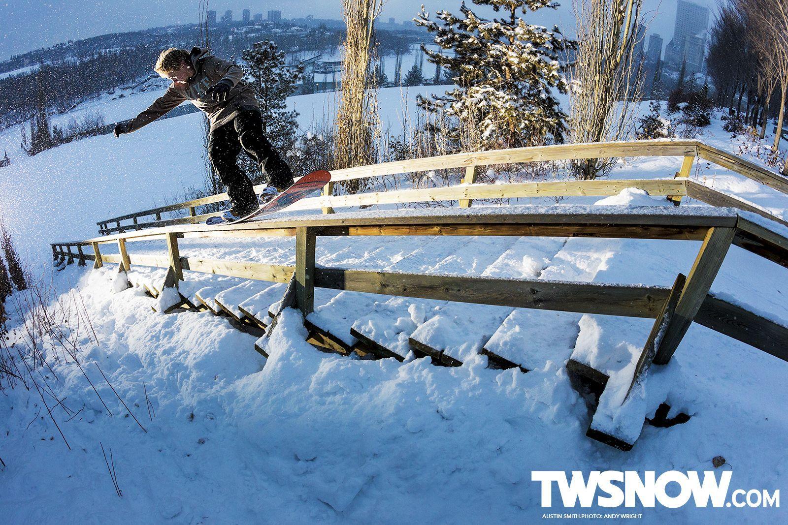 Austin Smith Snowboarding Some Rails Trend In 2020 Transworld Snowboarding Snowboarding Photography Snowboarding