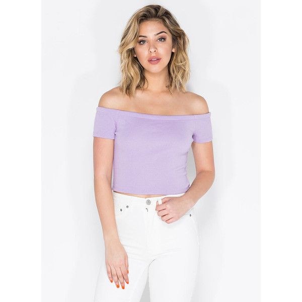 cb62ca1f6d PURPLE A Little Sun Off-The-Shoulder Crop Top (530 PHP) ❤ liked on ...