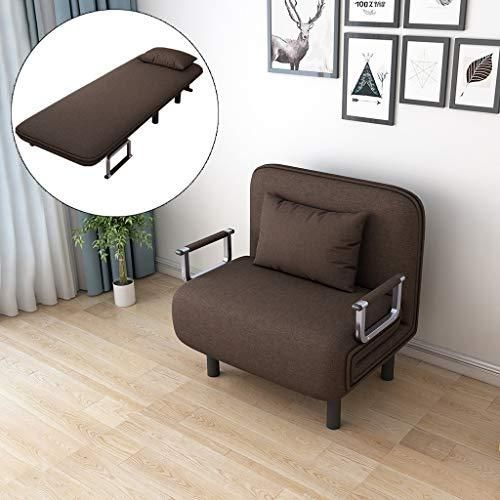 Folding Sleeper Chair Convertible Sofa Bed Recliner Lounge Position Folding Sleeper Arm Couch Small Apartment Small Room Space-Saving Creative Home Decor(US Fast Shippment) (Coffee)