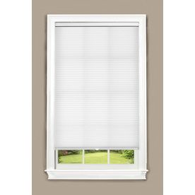 Allen Roth 64 In W X 64 In L White Cordless Light Filtering