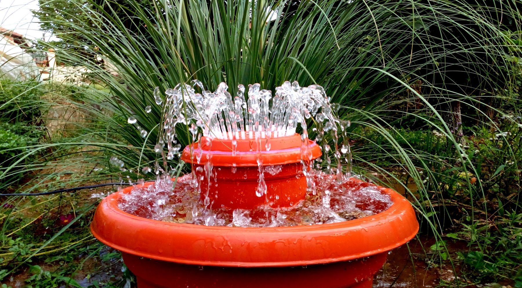 How To Make An Outdoor Fountain.How To Make Outdoor Fountain Used Plastic Pots D How To