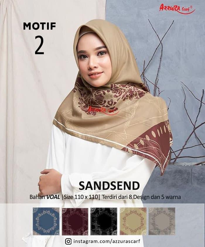 Hijab Segiempat Voal Sandsend Pesta Terbaru 2020 Model Pakaian Kerudung Hijab