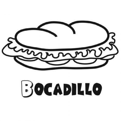 Dibujo para imprimir de bocadillo | escuela | Sandwiches, Food y ...