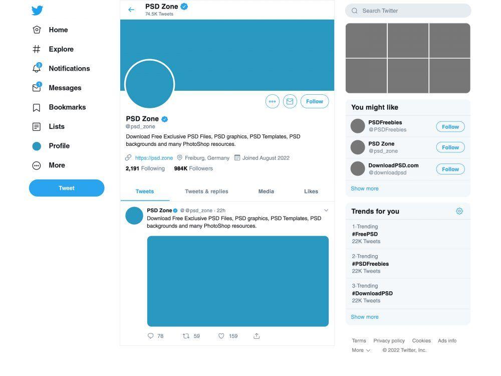 Twitter mockup 2019