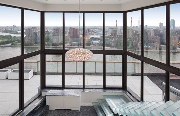 A luxury penthouse apartment on Manhattan's Upper East Side