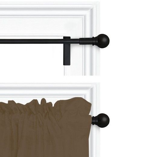 28 48 Twisted Shout Curtain Panel Rod Black Room Essentials Room Essentials Curtain Rods Panel Curtains