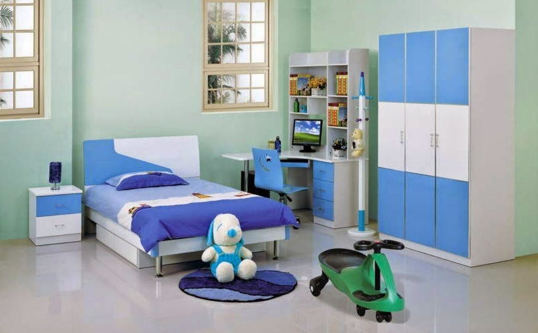 Boys Study Table Wardrobe And Bed Design Boy Room Decoration Id908