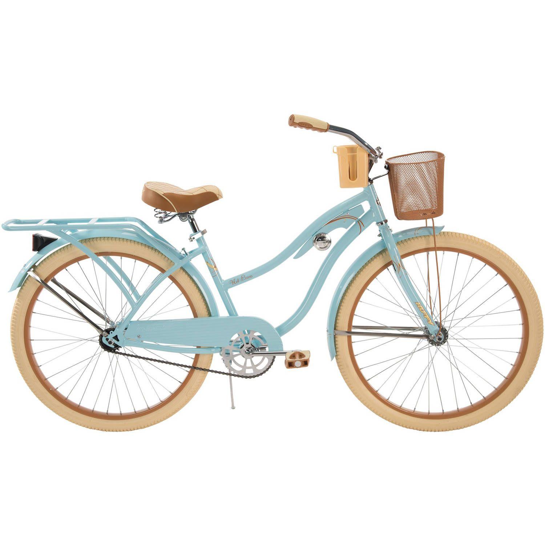Huffy 26 Womens Nel Lusso Cruiser Bike With Perfect Fit Frame Blue Walmart Com Beach Bicycle Cruiser Bike Huffy