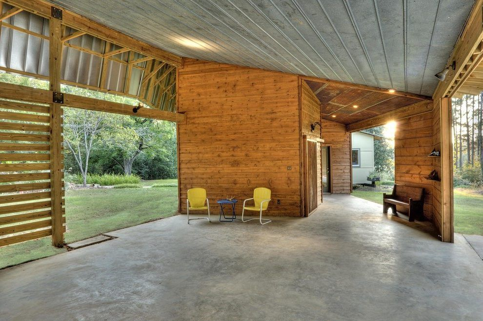 Barndominium interiors garage contemporary with yellow ... Huge Barndominium