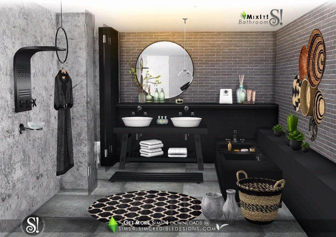 Sims 4 Bathroom Ideas Lovely Mix It Bathroom Set At Simcredible Designs 4 Sims 4 Updates Sims Sims 4 Sims 4 House Design