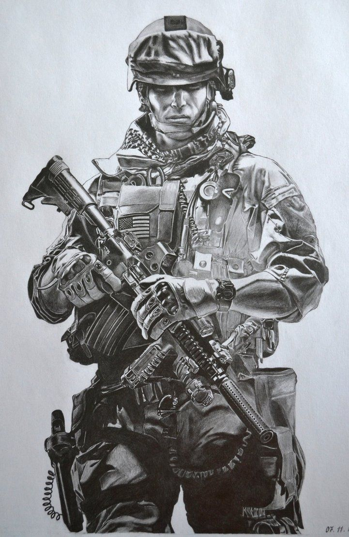 Battlefield 3 Pencil Drawing By Al54xx Guns Army Y
