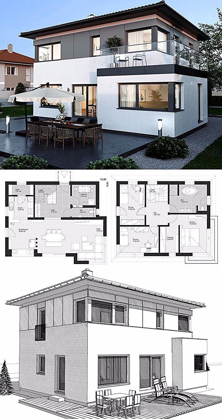 Moderne Landhausstadtvilla mit Walmdacharchitektur, Holzfassade & 4 Zimmer …   – Architecture Quotes
