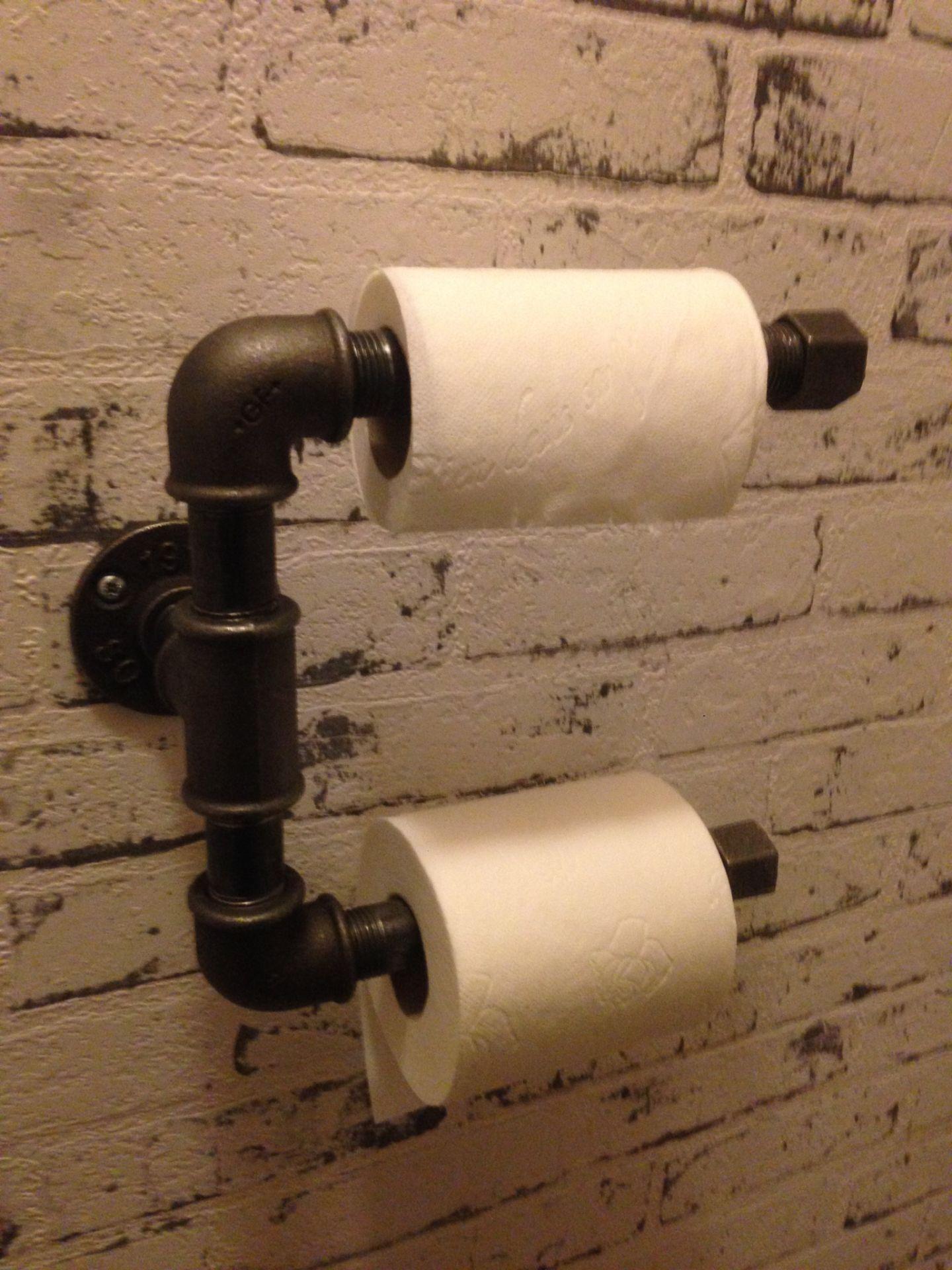 d rouleur de papiers toilette deco industriel pinterest d rouleur papier toilette et deco. Black Bedroom Furniture Sets. Home Design Ideas