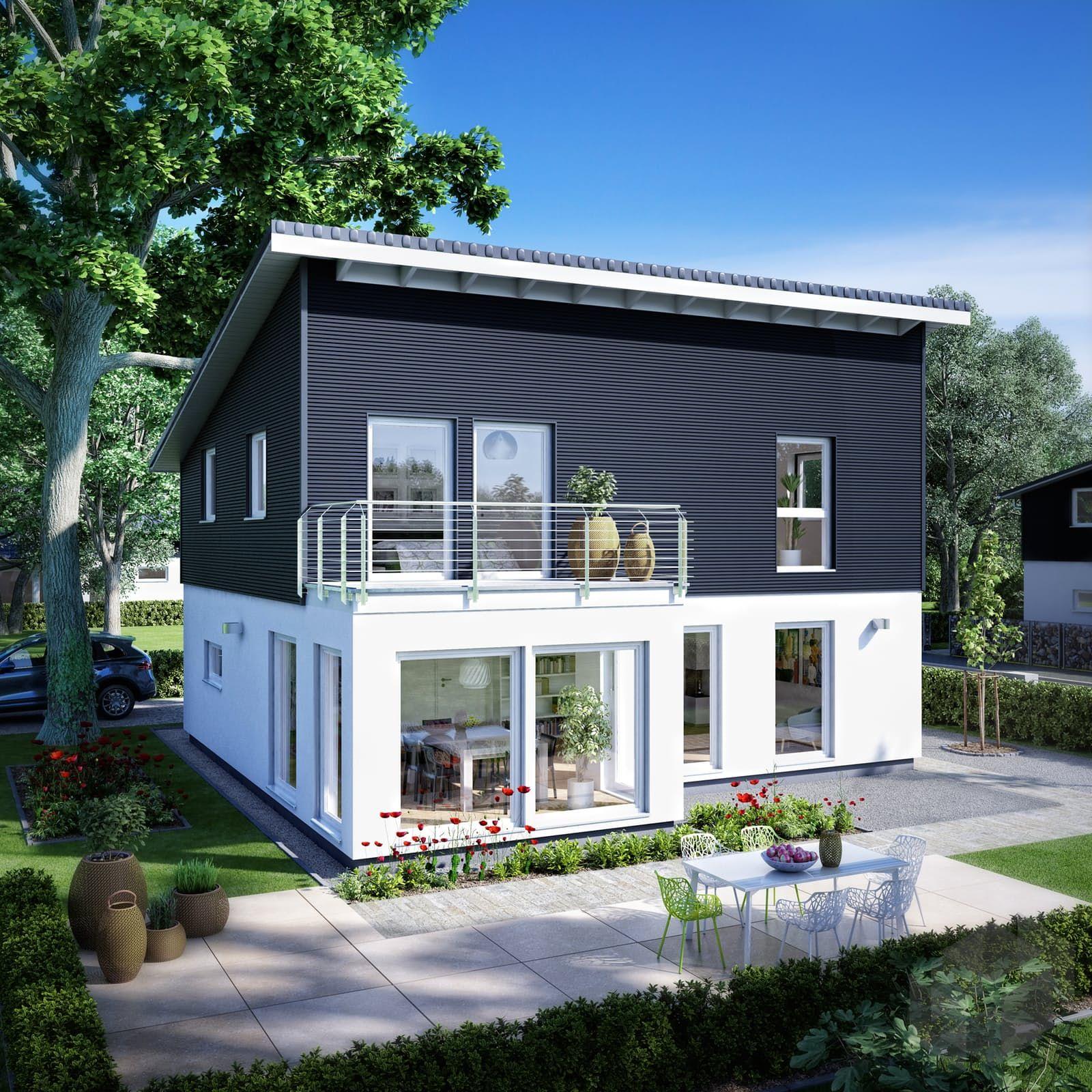 Neubau Einfamilienhaus Flachdach: Finde Eine Große Auswahl An Häusern Mit Pultdächern Beim