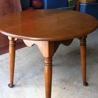 Ethan Allen Baumritter Round End Table End Tables Beveled Glass