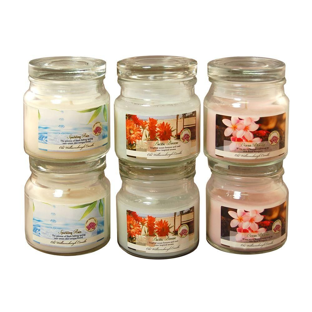 ed43aea0247d Lumabase Scented Candles - Natural Fresh Collection in 3 oz. Glass ...