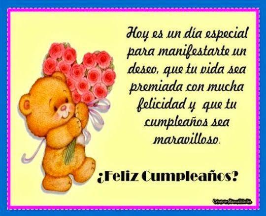 Dedicatorias de cumpleaños para usar en tarjeta de felicitacion Animalitos Pinterest