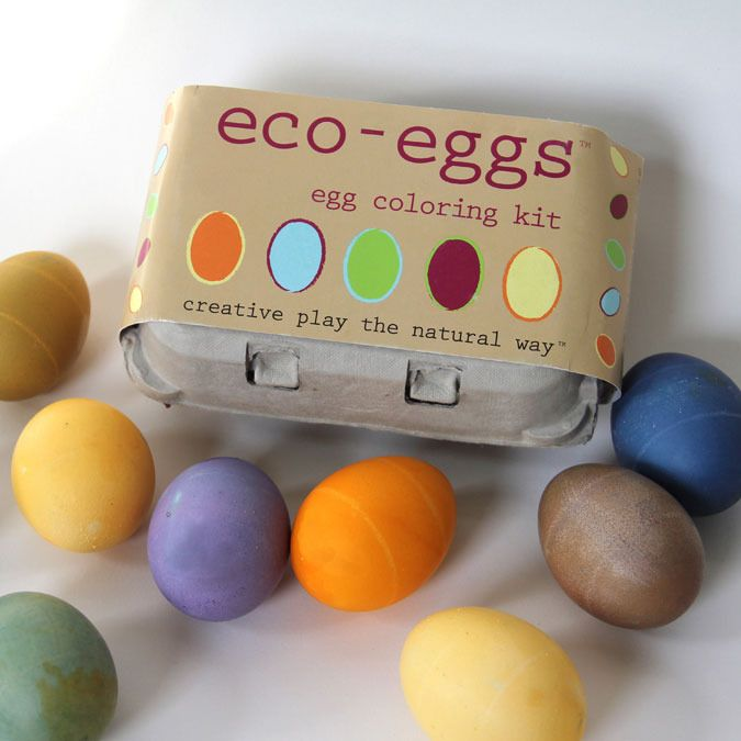 eco-eggs coloring kit™ - made from organic fruit, plant and ...