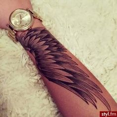 2341c93a7 wing tattoos on arm - Google Search   Tattoos   Tattoos, Wings ...