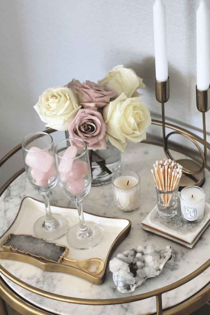 Easy Ways To Decorate With Crystals Crystal Decor Decorating Coffee Tables Decor