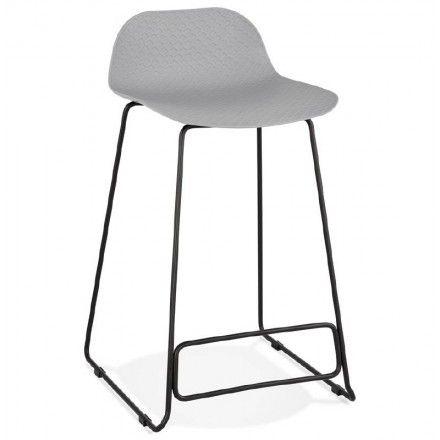 Tabouret de bar chaise de bar mi-hauteur design ULYSSE MINI pieds
