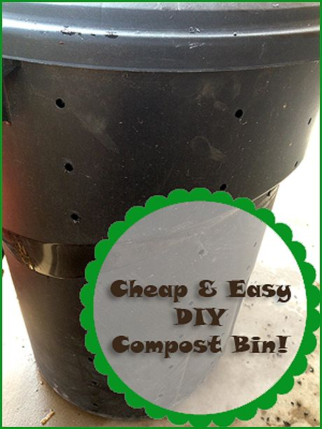 trash can compost i have to do this by the chicken coop so i don