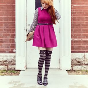 striped catyhose / www.meowingtons / cat tights / cat leggings /  meowingtons / @hungrykitty33