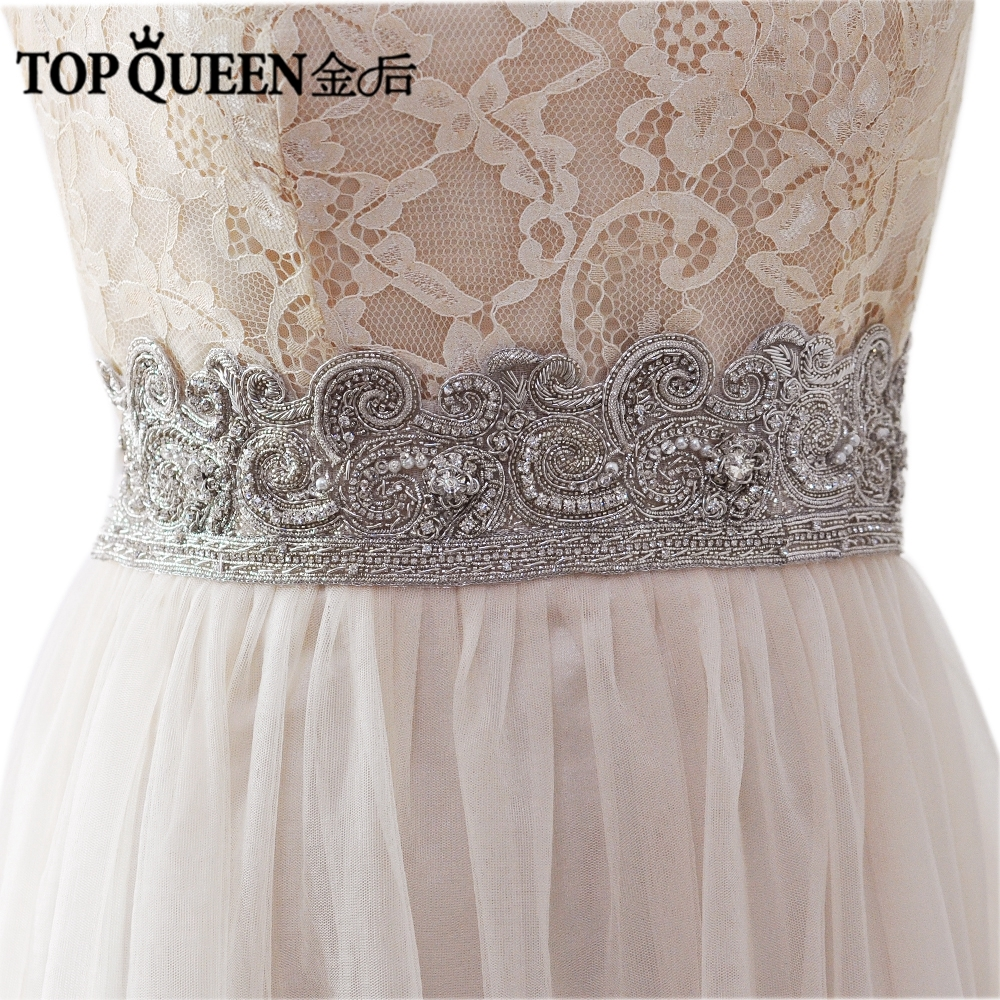 Dress for wedding evening party   Buy here  TOPQUEEN ASS Wedding Sashes Belt Bride Evening