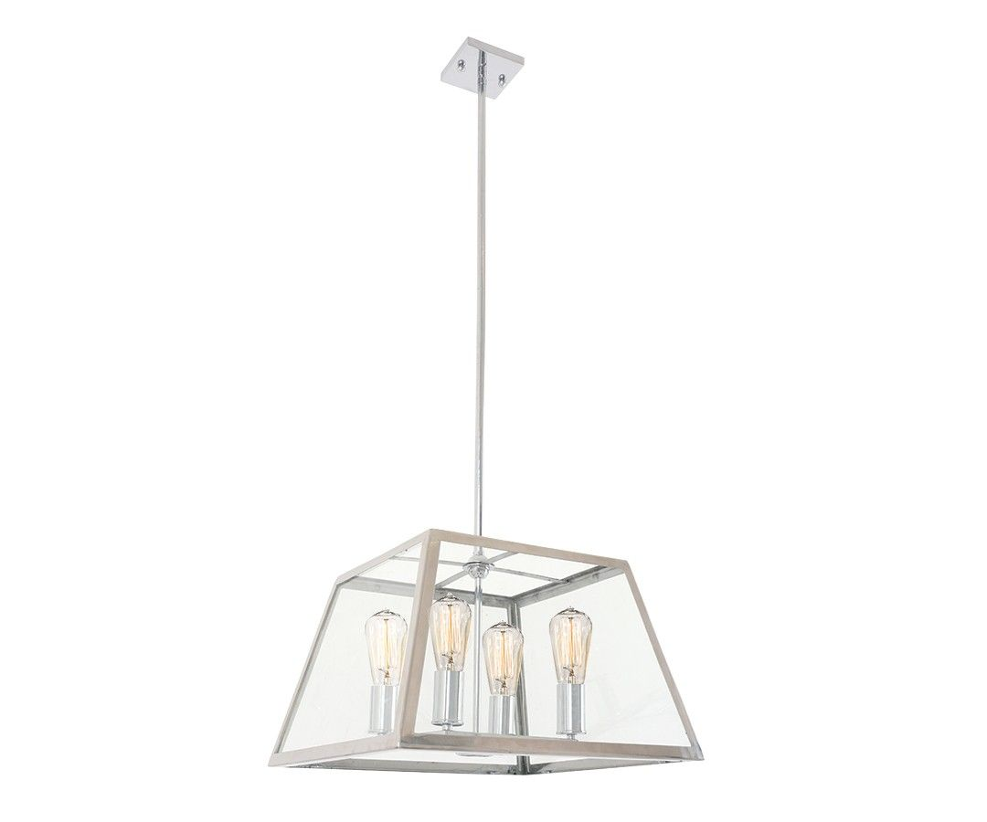 Southampton 4 Light Pendant In Stainless Steel