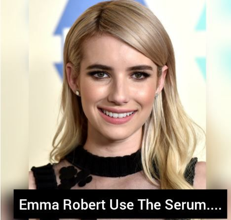 """I like this product as a result of it's organic and uses red alga that keeps my skin young. Makeup glides on swimmingly when application,"" she said. together with reducing the looks of fine lines and wrinkles. This hydrating body fluid conjointly helps build skin look and feel firmer.#emmaroberts#isclinicalyouthserum"