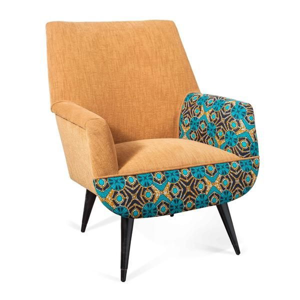 ... Reclaimed Furniture Is Sourced From All Around Turkey And Is  Reupholstered In Istanbul By Local Artisans Using African Wax Print. The  Zambezi Armchair ...