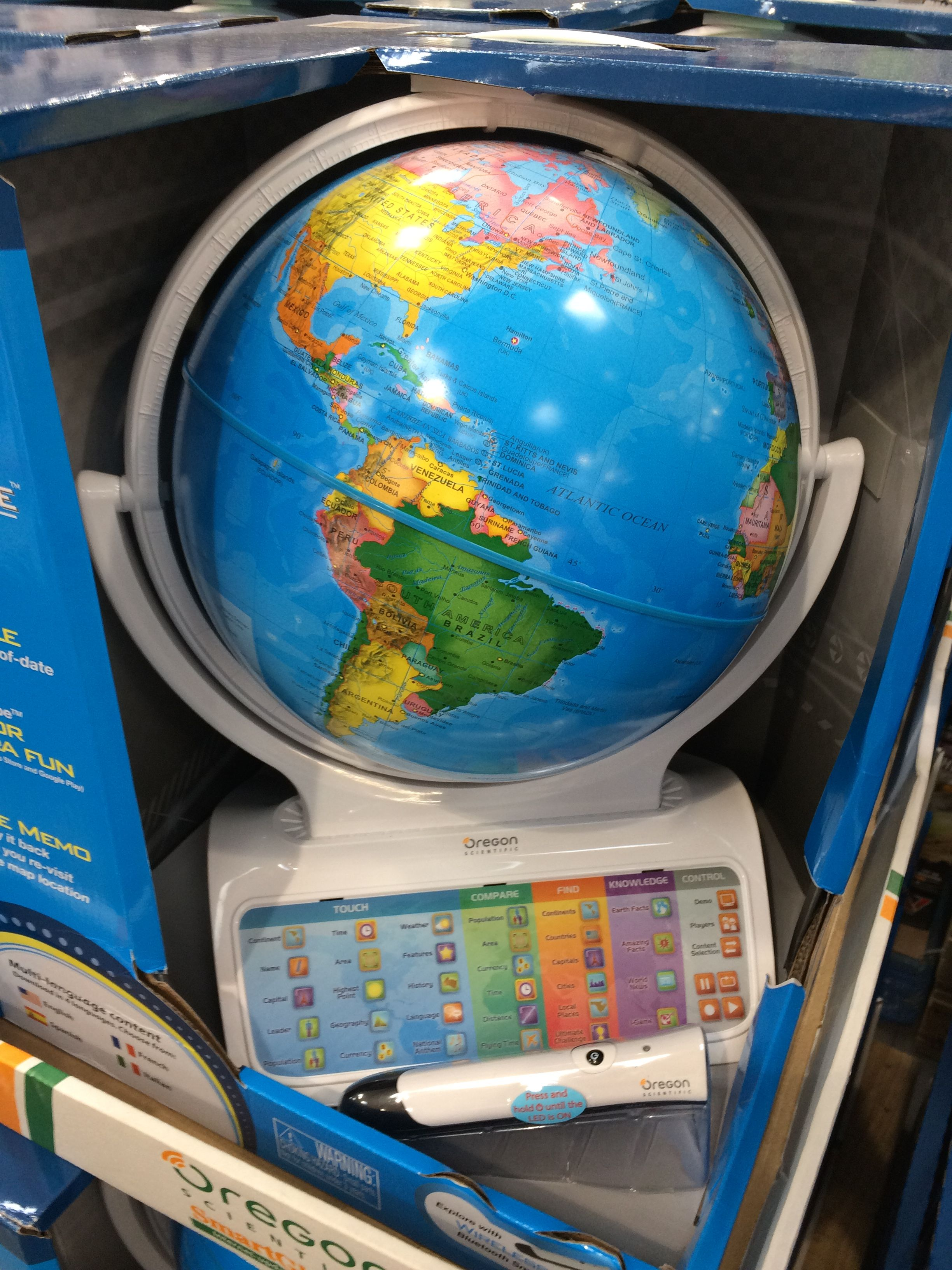 Inflatable Topographical Globe Small World Toys Nature 16