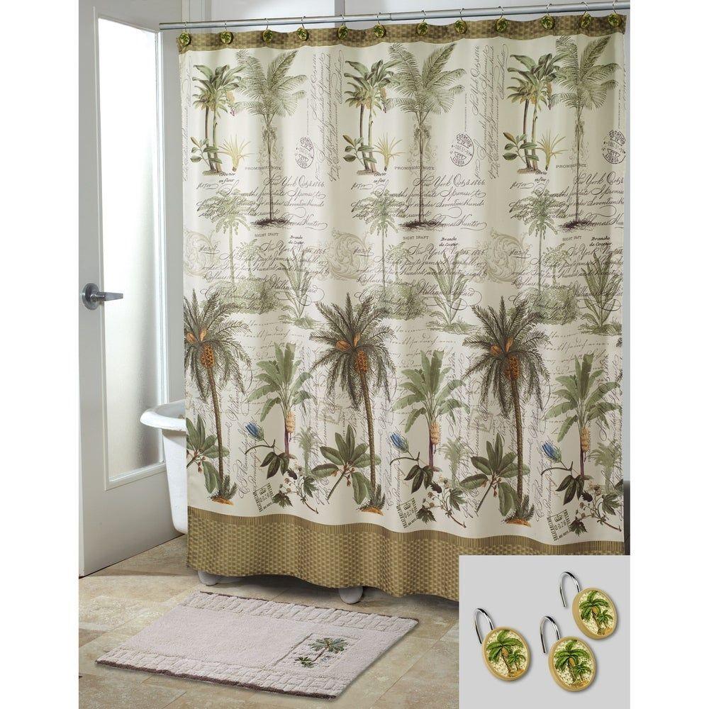 Colony Palm 14 Piece Bath Accessory Set Ivory Avanti Linens In