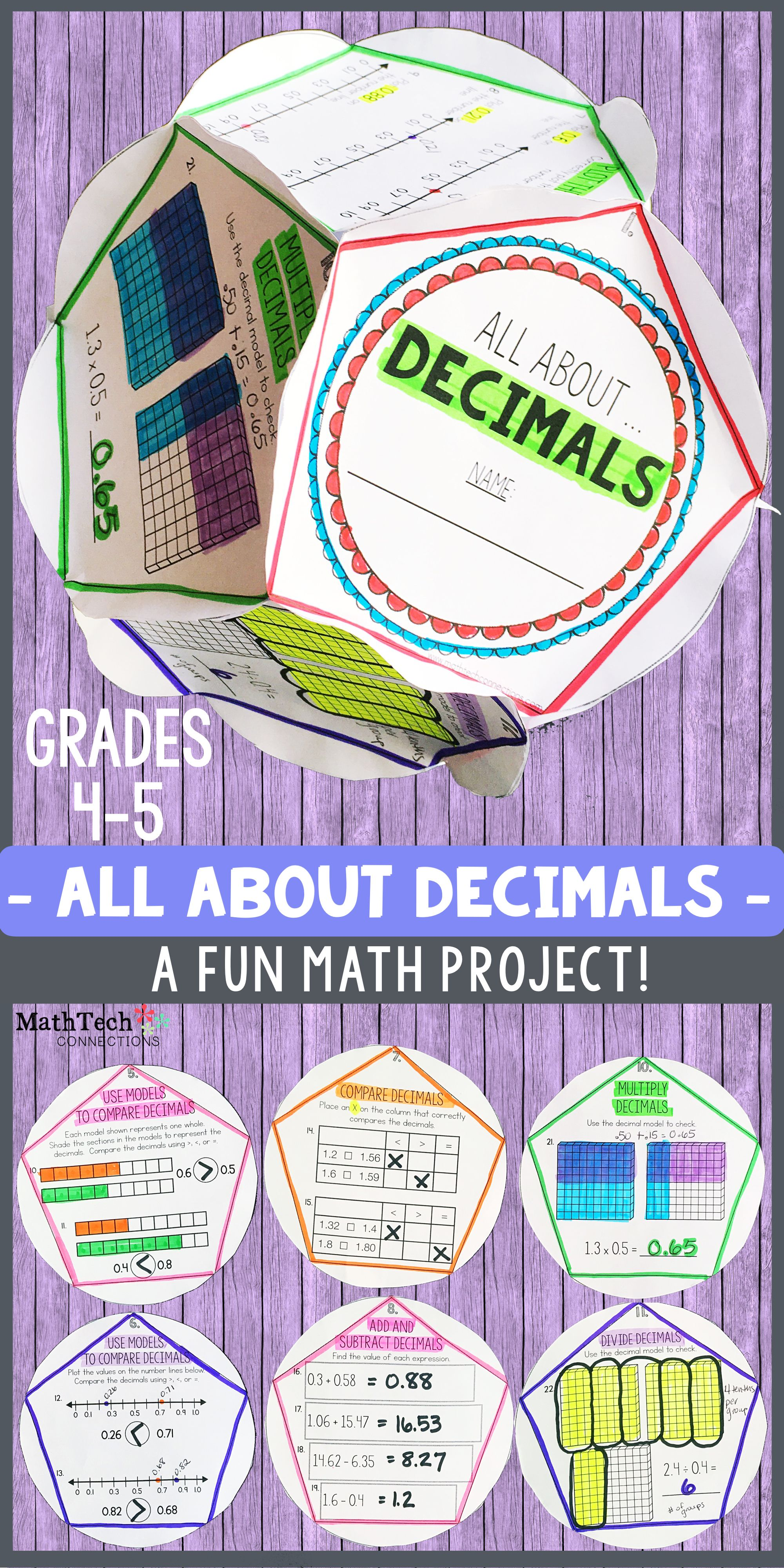 Division With Decimals Worksheet 5th Grade