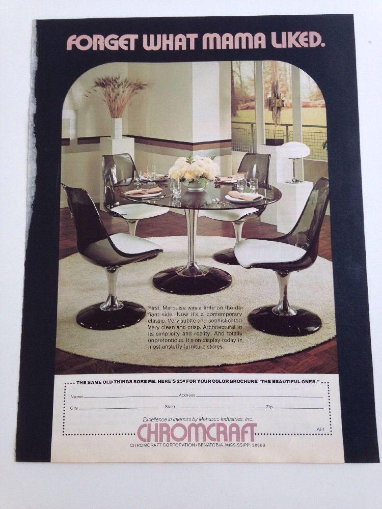 Vintage Mid Century Chromcraft Space Age Dinette Set