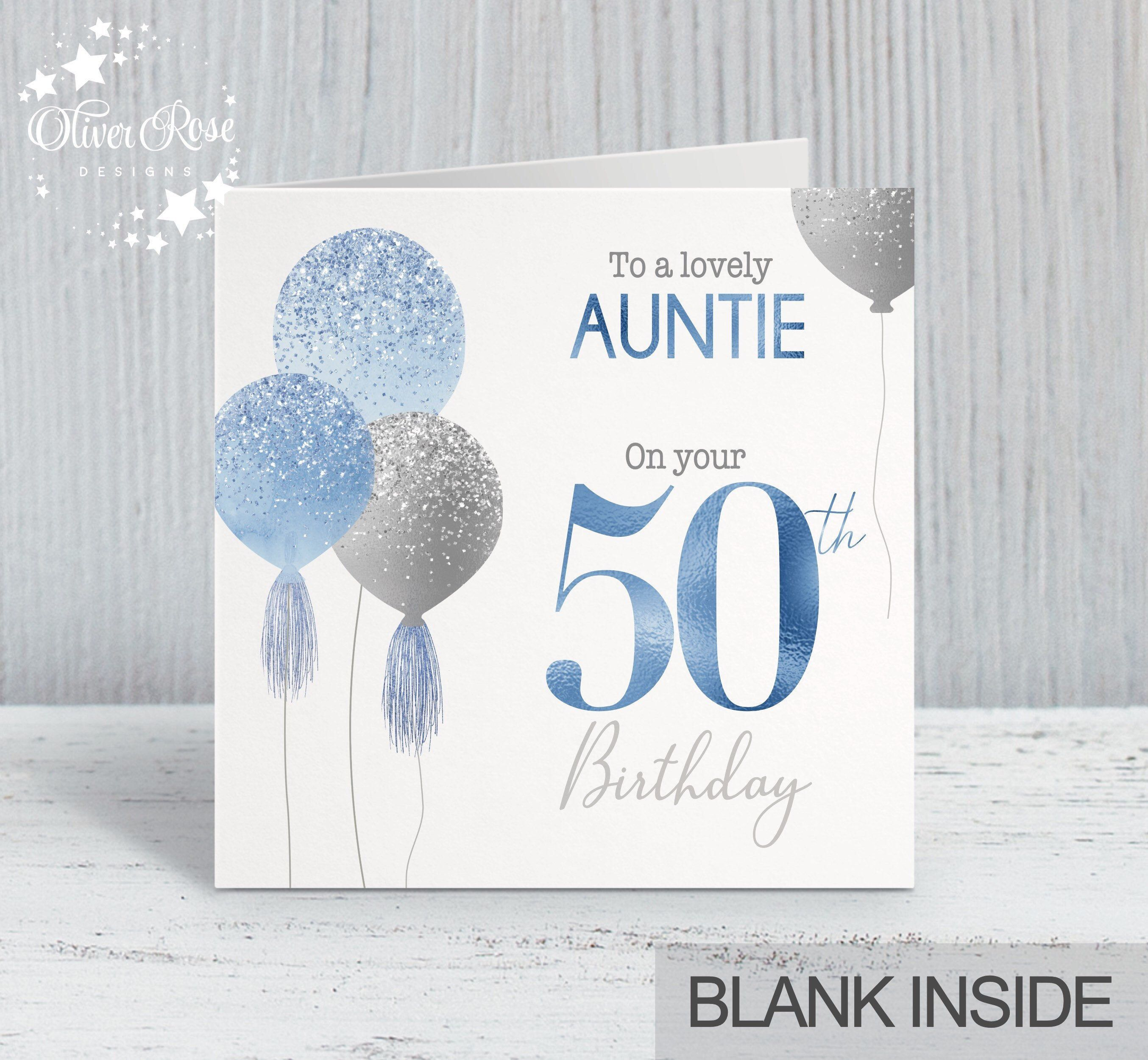 50th birthday card mum sister auntie daughter niece etsy