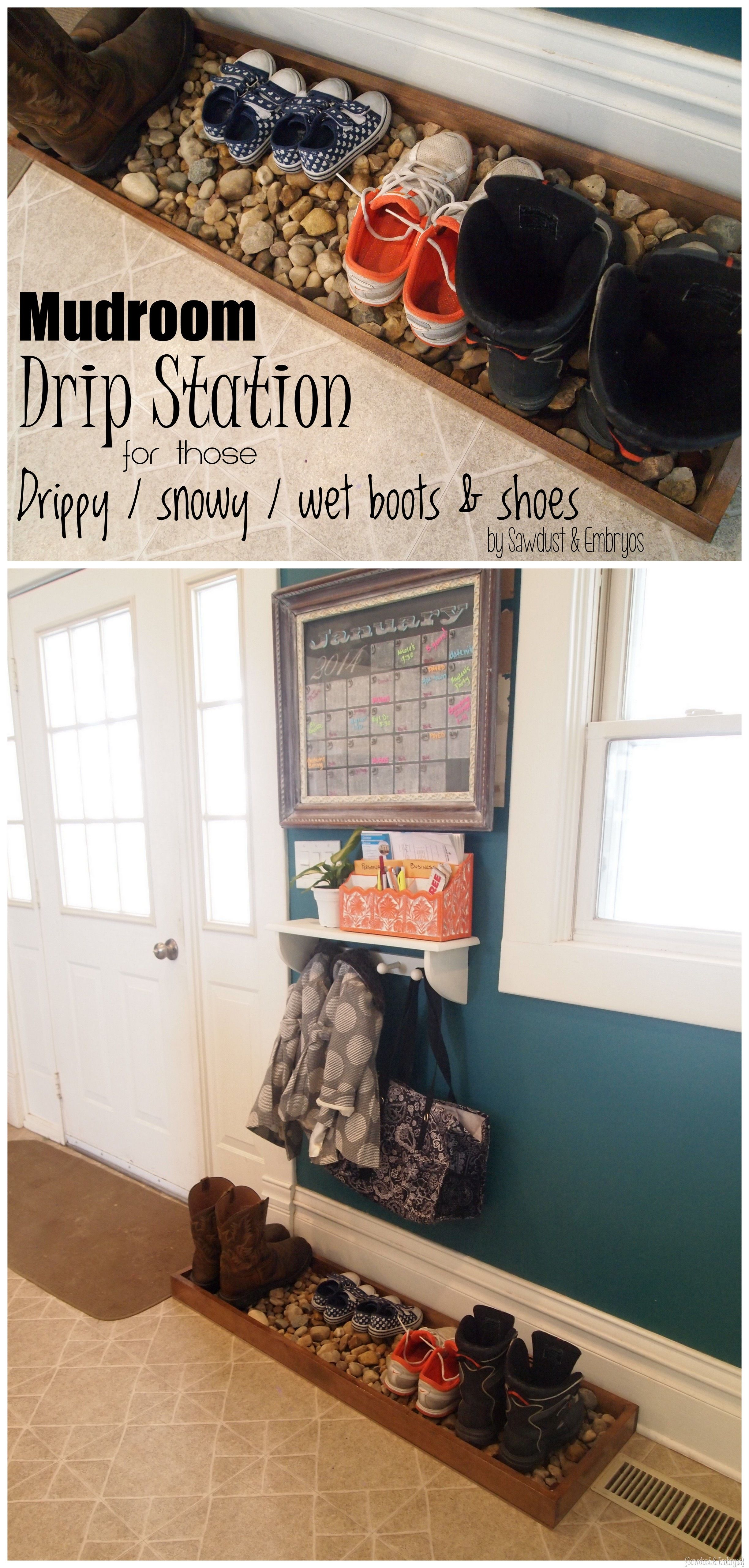 Build A Drip Tray For Muddy Or Snowy Boots And Shoes Sawdust Embryos