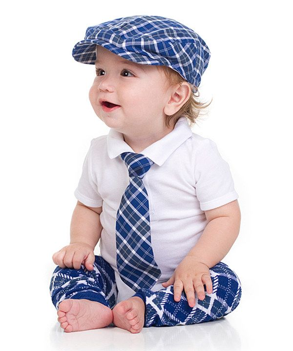 d0a1672675d Look at this juDanzy Blue Plaid Cabbie Hat Set - Infant on  zulily today!
