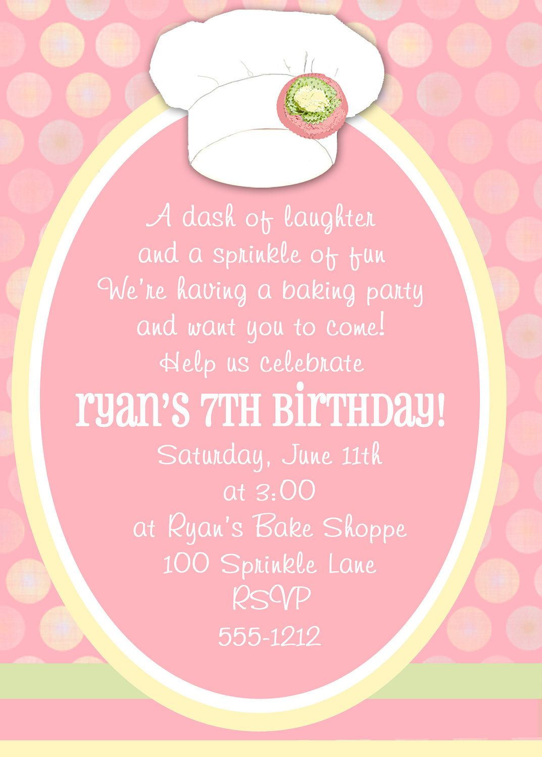 Baking Party | Baking Invitation | Baking Birthday | Cupcake Party ...