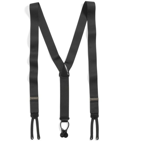 Brooks Brothers Extra-Long Formal Suspenders ($88) ❤ liked on Polyvore featuring mens, men's accessories, suspenders, accessories and black