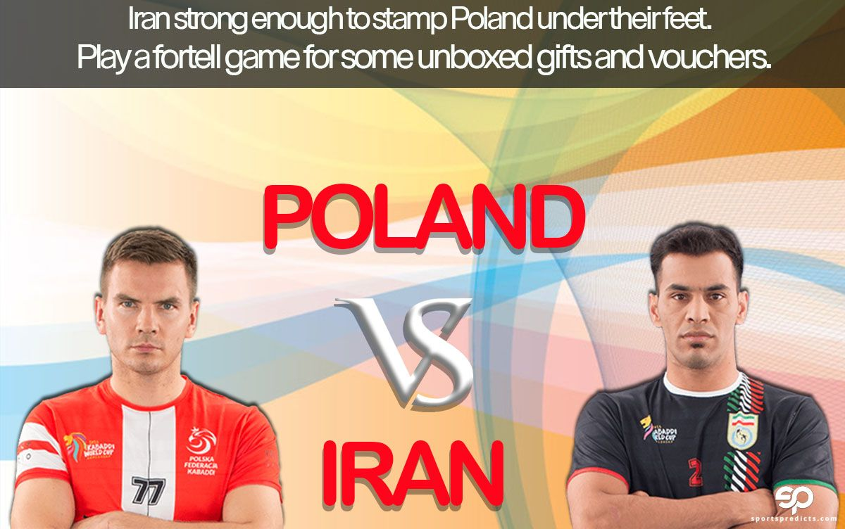 Kabaddi World Cup Poland Vs Iran Today Kabaddi World Cup Sports Iran Today