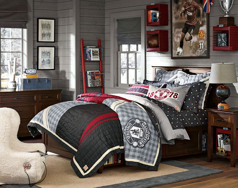 Teenage Guys Bedroom Ideas | Manchester United | PBteen ...