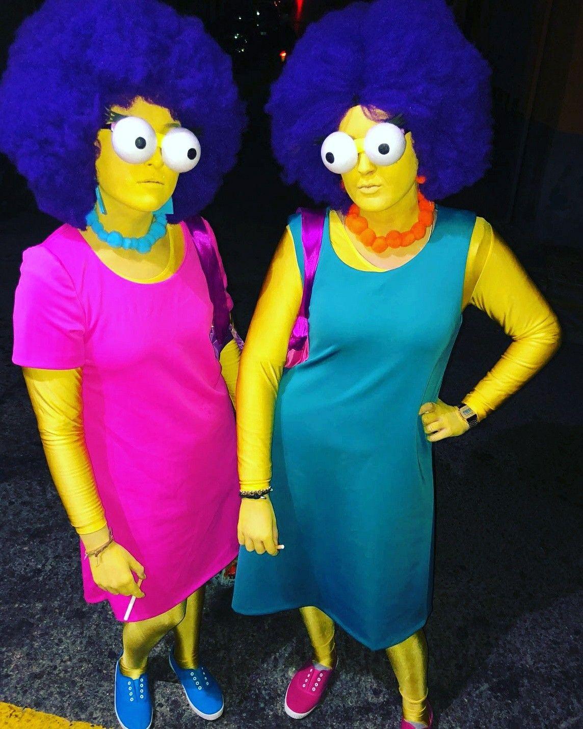 Disfraz De Patty Y Selma De Los Simpsons Simpsons Patty Selma - Disfraces-simpsons